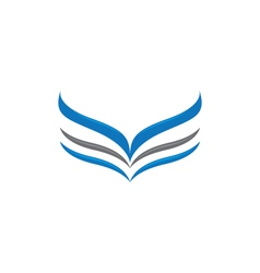 V wing logo template vector