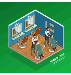 Haircut room concept vector
