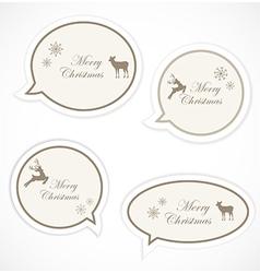 Christmas speech bubbles vector
