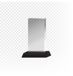 Glass trophy and prize vector