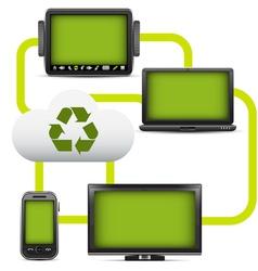 Eco cloud computing vector image