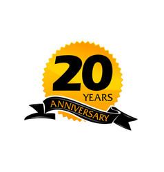 20 years ribbon anniversary vector