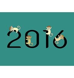 2016 Monkey vector image vector image