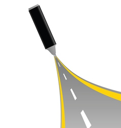 gray felt pen with road vector image
