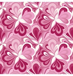 Doodle hand drawn seamless floral pattern vector