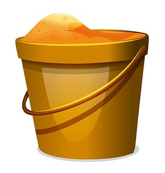 A pail of sand vector