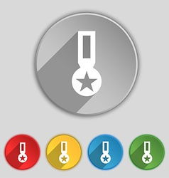 Award medal of honor icon sign symbol on five flat vector