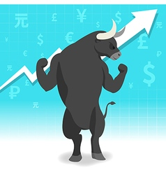 Bull market presents uptrend stock market vector