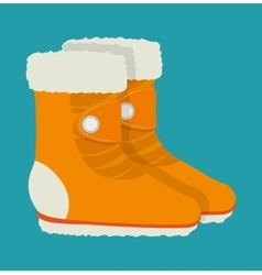 Winter sports and wear accesories vector