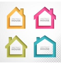 Set of colorful houses icons vector