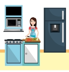 Kitchen and cooking graphic vector