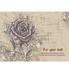 Floral Card with rose vector image