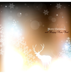 Beautiful christmas background with reindeer and vector