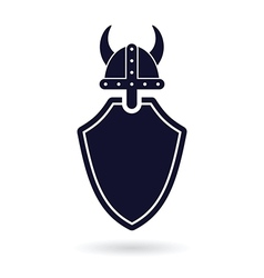 Viking shield logo vector
