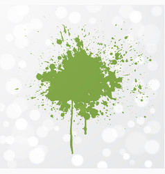 Abstract grunge splash of greenery - color of the vector