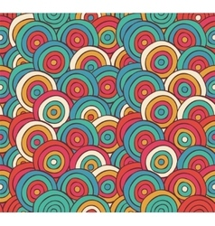 Abstract sketched colorful circles background vector