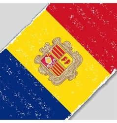 Andorran grunge flag vector