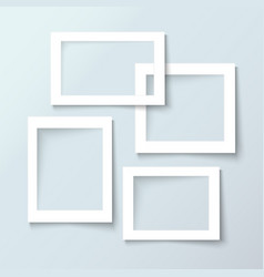 bank photo frames with empty space for your vector image