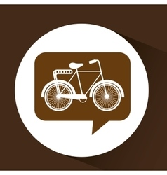 Bicycle symbol vintage color icon vector