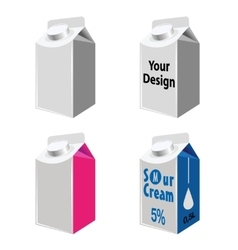 Blank Milk And Juice Carton Packages vector image vector image