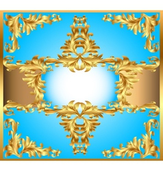 blue background painting frame vector image vector image