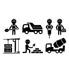building industrial icon for construction industry vector image vector image