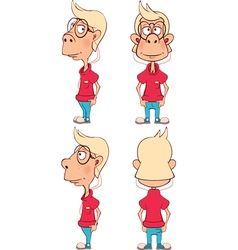 Character cute cartoon boy for computer game vector image