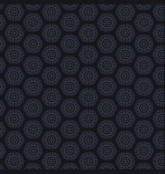 Dark background with hexagonal patterns vector