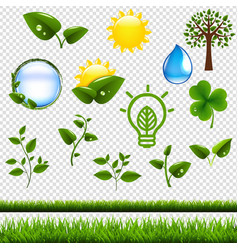 ecology symbols set isolated vector image vector image