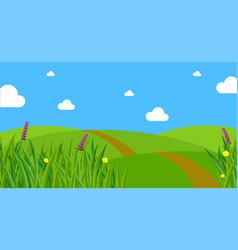 Fresh green spring grass background vector