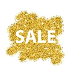 Gold glitter sale background for poster Abstract vector image