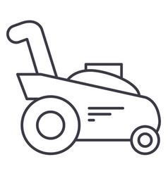 grass cuttergardening machine line icon vector image