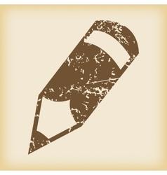 Grungy pencil icon vector