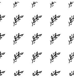 hand drawn brush flowers handmade seamless ornate vector image