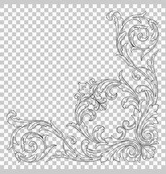 Isolate corner ornament vector