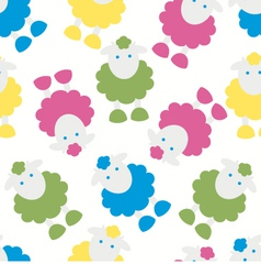 Kids pattern with lambs vector image vector image