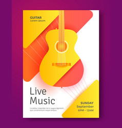 live music poster vector image vector image