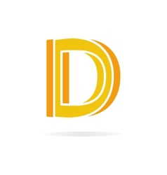 Logo D letter for company design template vector image
