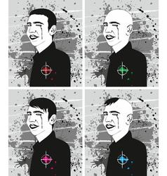 Man Haircut Face Set vector image vector image