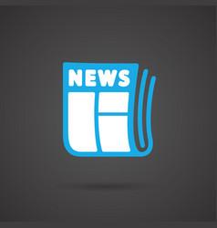 Media icon - newspapar vector