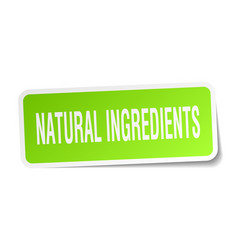 Natural ingredients square sticker on white vector