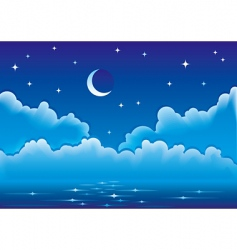 night seascape vector image vector image