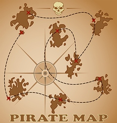 pirate map vector image vector image