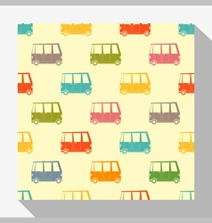 Retro seamless pattern collection with car 3 vector