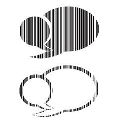 set of blank speech bubbles barcode vector image vector image