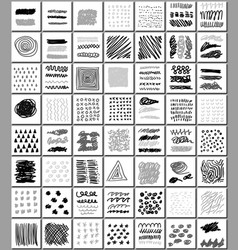set of hand drawn monocrome textures vector image vector image