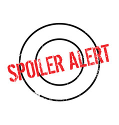 Spoiler alert rubber stamp vector