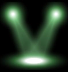 Spotlight light effect green color vector