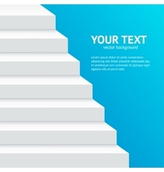 Stairs Step Banner vector image vector image