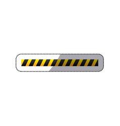 Sticker barricade icon line construction design vector
